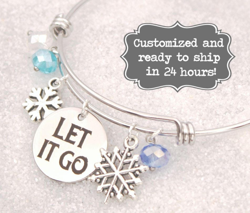 Frozen Elsa And Anna Charm Bracelet Adjustable 2 To 4 Year Gift Box Birthday Girls' Accessories