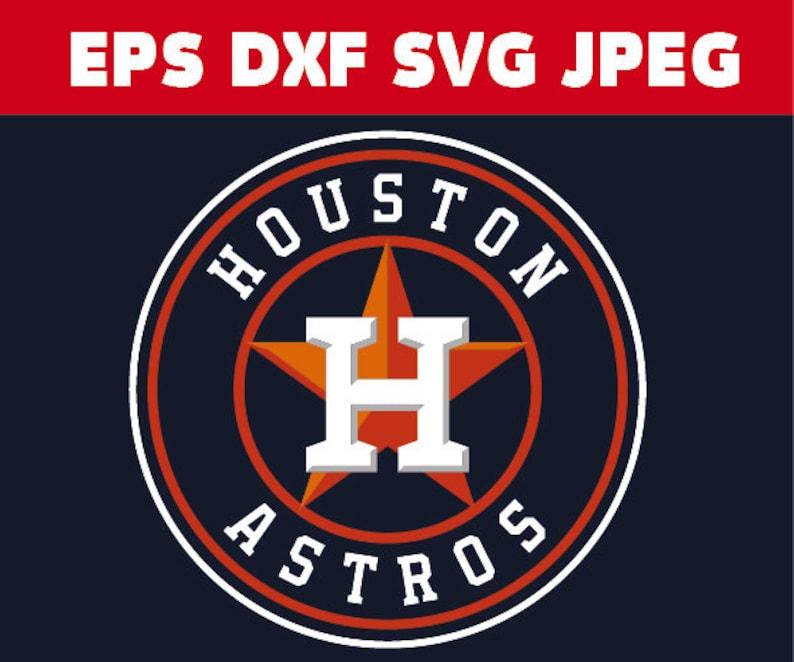 Astros Logo >> Houston Astros Logo In Svg Eps Dxf Jpg Files Instant Download