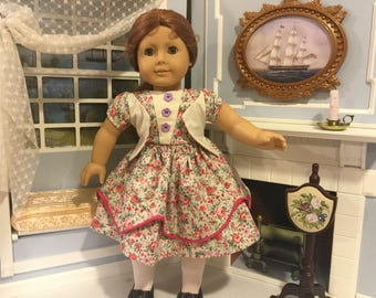 Civil War era dress for 18 inch doll