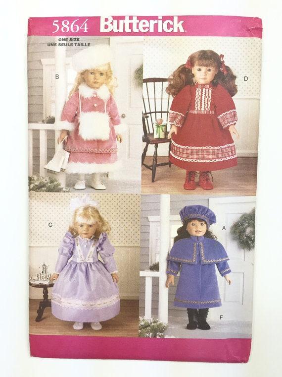 Butterick 5864 18 Puppe Schnittmuster historische   Etsy