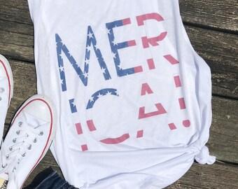 Fourth of July Shirt Women, Merica Tank, 4th of July Shirt Women, Usa Shirt, Fourth of July Tank,  4th of July Tank Top, Merica Shirt