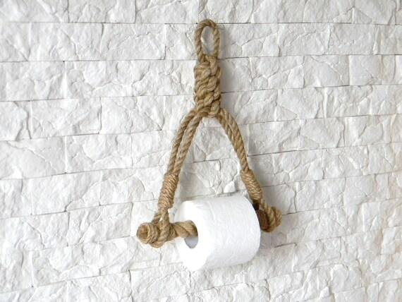 Toilet Paper Holder : Toilet paper holder rope toilet roll holder jute rope etsy