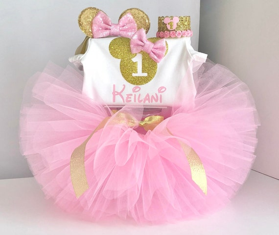 Minnie Mouse 1st Birthday Outfit.Minnie Mouse Birthday Outfit Minnie Mouse 1st Birthday Outfit Pink And Gold Minnie Mouse Outfit Minnie Mouse First Birthday Outfit Tutu Set