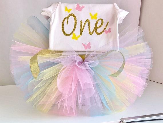 1 Geburtstag Madchen Outfit Rosa Und Gold Disney Prinzessin Etsy