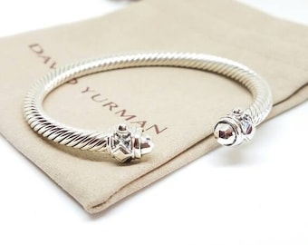 David yurman sterling silver renaissance bracelet. Size medium