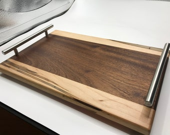 hand made wood serving tray