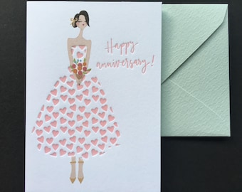Happy Anniversary Card - Letterpress Anniversary Card
