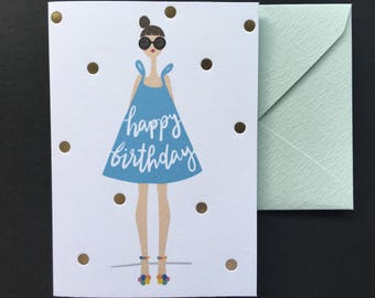 Happy Birthday Card - Letterpress Birthday Card