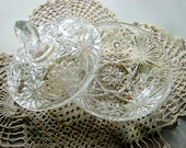 Vintage Candy Dish, Anchor Hocking Candy Dish, Glass Candy Dish, Heavy Glass Candy Dish, Decorative Candy Dish, Elegant Crystal Candy Dish