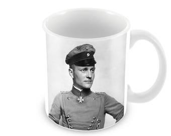 Red Baron, Manfred von Richthofen.  Ceramic Coffee Mug    Free Personalisation