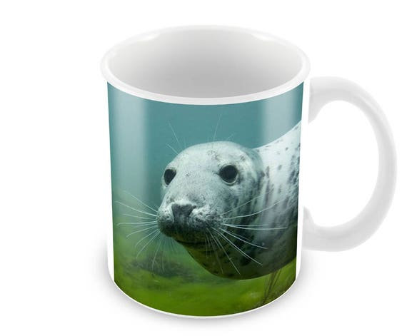 Grey Seal Ceramic Coffee Mug Free Personalisation