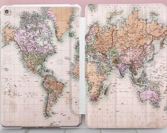 625b4462d0 World Map iPad Pro 10.5 Case iPad Pro 9.7 2018 Case iPad Mini 5 Smart Cover  iPad Air 3 Case 6 iPad 11 iPad Pro 12.9 Smart Cover 2018 YZ5202