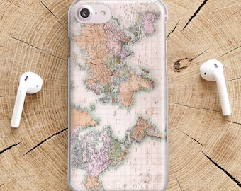 World map phone case etsy popular items for world map phone case gumiabroncs Images