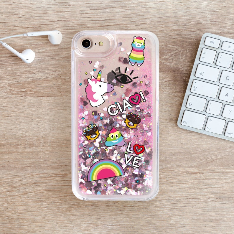 outlet store 60067 55a5d Unicorn Glitter Case iPhone Se Glitter Case Coque iPhone 7 Plus Case  Glitter iPhone 8 Plus Case iPhone 6 Plus Case iPhone 6S Glitter YZ5100
