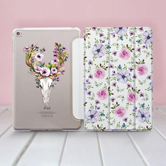 Flower Skull iPad Pro 9.7 2018 Smart Cover Pro 12.9 iPad Pro 10.5 Mini 2 3 4 Air