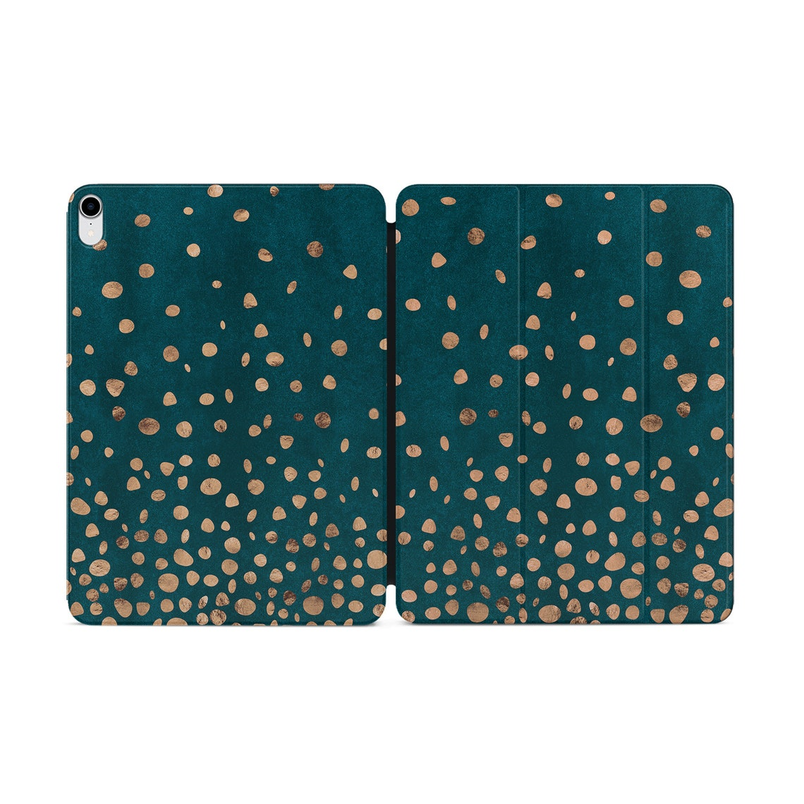 Polka Dot iPad Pro 12.9 Case Golden Dots iPad 2018 iPad 11 Smart Folio iPad Pro 12.9 Magnetic Case iPad 11.4 Case With Smart Cover YZ5221