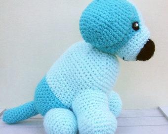 Free Shipping, Puppy Crochet Animal,Stuffed Crochet Dog,Stuffed Dog Toy, Crochet Gift, Gift For Toddlers, Crochet Toy Dog, Dog Soft Toy