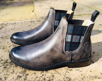 EcoWolfe Mens Chelsea Boots Grey