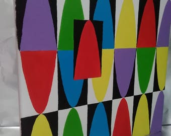 Acrylic painting, modern paintings abstract acrylic on canvas, colouring work No. 7