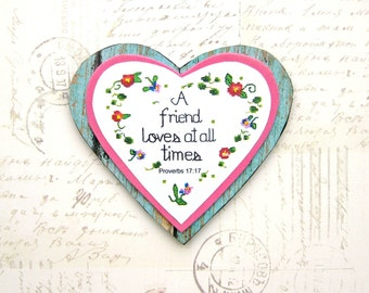 Friendship quote heart magnetChristian friend gift Secret | Etsy