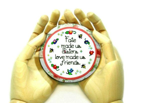 Sentimental Big Sister Gift Decorative Quote Magnet Long