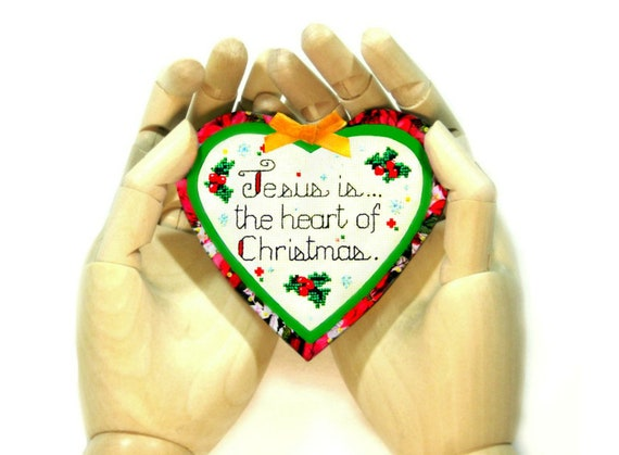 image 0 - Religious Christmas Ornaments Christmas Quote Heart Magnet Etsy
