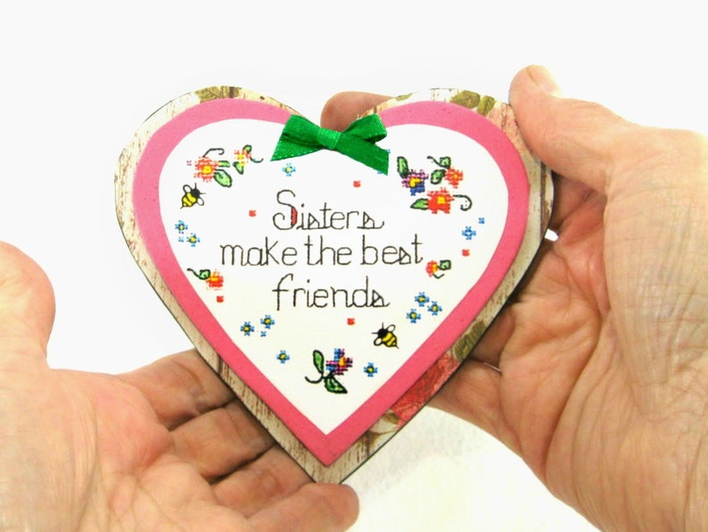 Unique Gift For Sister Heart Magnet Sister Friend Quote Etsy