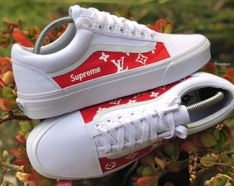 6a0f01407741 Vans x Supreme Louis Vuitton Customs