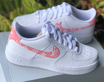 "first rate 89e7f 58e5b Air Force 1 ""Pink Supreme Louis Vuitton"" Customs"