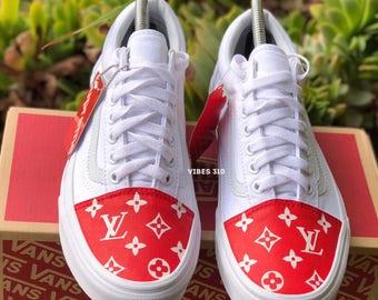 Vans X Supreme LV Toe Box Customs