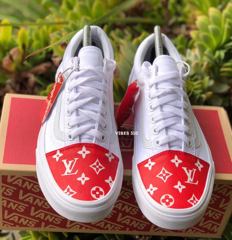 ec2da1bbd36d5d Vans x Supreme LV Toe Box Customs
