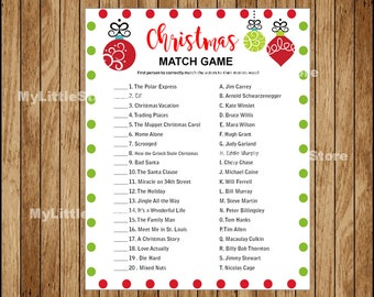 graphic regarding Printable Christmas Games With Answers referred to as Recreation the video clip activity Etsy