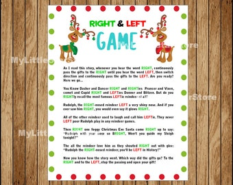 picture regarding Left Right Christmas Game Printable titled Xmas Bingo Sport 30 Playing cards Printable Xmas Bingo Etsy