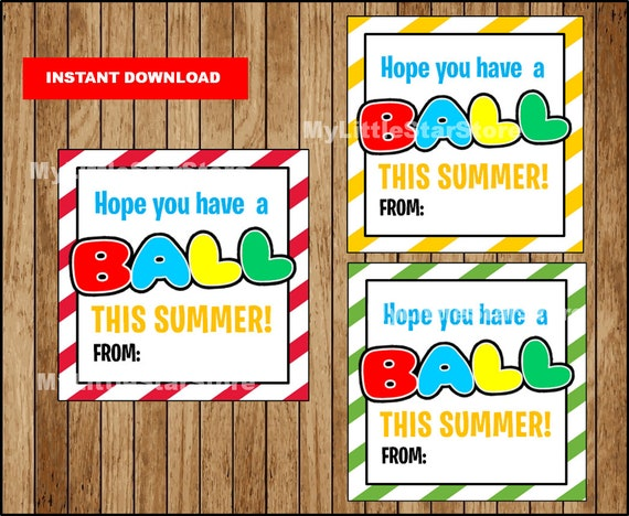 photo about Have a Ball This Summer Printable called Conclude of the university yr Tags, Printable Incorporate A Ball This Summer months Present Tag, University Summer time tag Prompt down load