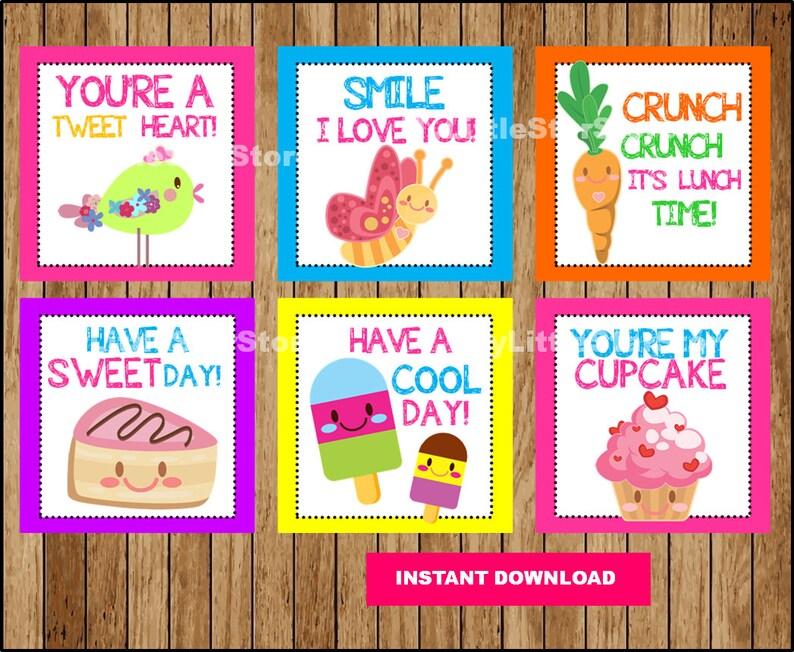 photograph regarding Printable Lunch Notes called Adorable Lunch Box Notes , Lunch Notes playing cards , Printable Lunchbox Notes Quick obtain