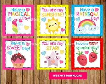 Printable Love Lunch Box Notes , School lunch box notes , Sweet Lunch Notes Printable Instant download