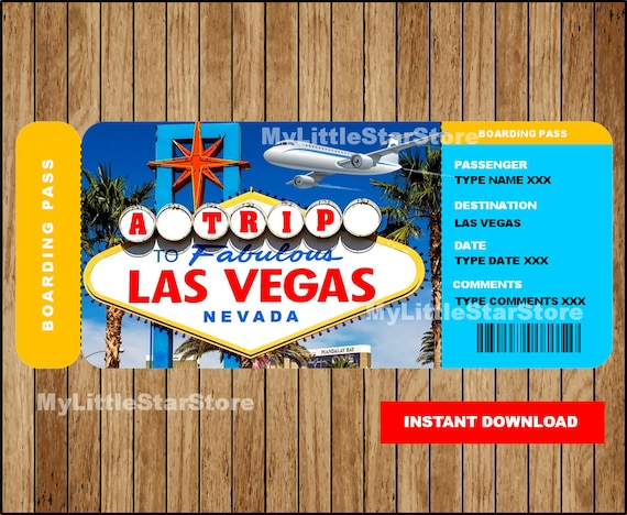 photograph about Printable Boarding Pass titled Las Vegas Ponder Printable Ticket, Speculate Boarding P, Las Vegas Present Ticket, Ticket in direction of Las Vegas Boarding P Editable Terms