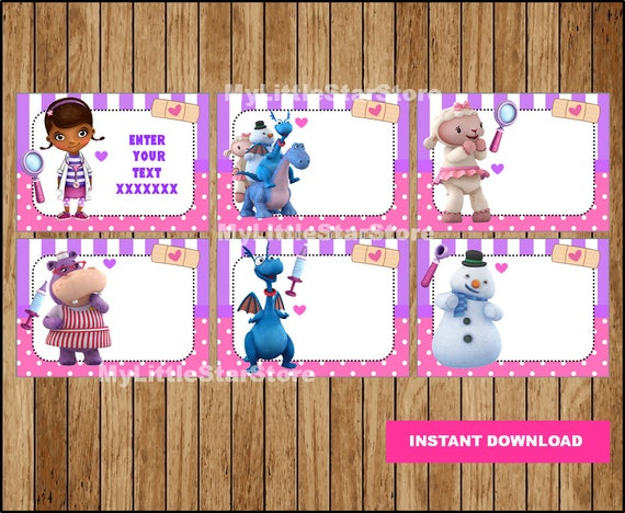 photograph relating to Printable Doc Mcstuffins called Document McStuffins E-book Labels, Printable Document McStuffins Bash tags, Playing cards, Document McStuffins Back again in the direction of College or university Labels Editable Fast down load