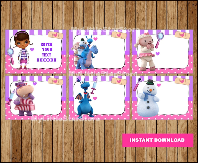 photograph about Doc Mcstuffins Printable Labels referred to as Document McStuffins Ebook Labels, Printable Document McStuffins Bash tags, Playing cards, Document McStuffins Again toward University Labels Editable Instantaneous obtain