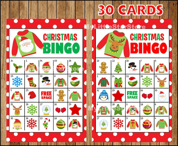 picture relating to Printable Christmas Bingo Cards named Xmas Bingo Activity 30 Playing cards, Printable Xmas Bingo playing cards, Recreation for Xmas Social gathering Quick obtain