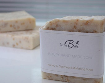 Natural soap- Honey and oatmeal