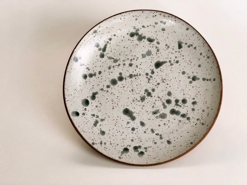 Speckled Dinner Plate / Pottery Dinnerware / Ceramic Plate / image 0
