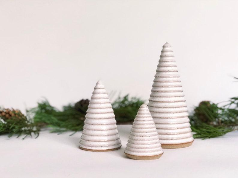 White Christmas Trees / Ceramic Trees / Handmade Pottery / image 0