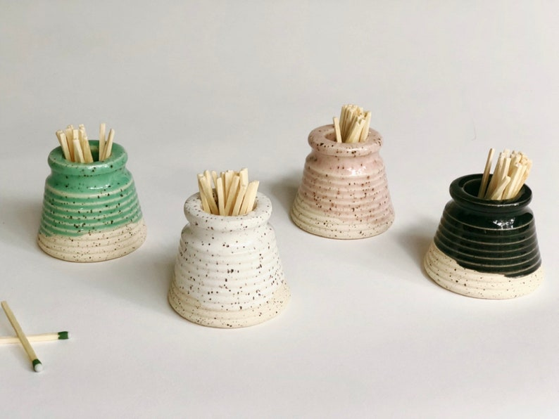Match Striker / Speckled  / Handmade Pottery / Match Holder / image 0