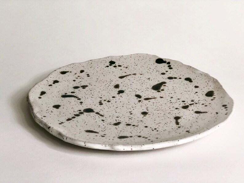 Speckled Plate / Pottery Dinnerware / Ceramic Plate / Handmade image 0
