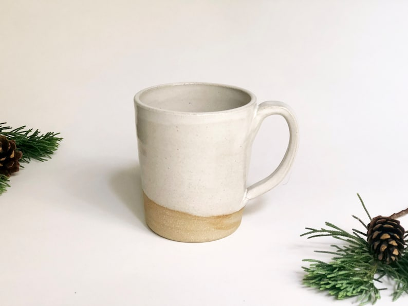 White Mug / Coffee Mug /Tea Mug / Handmade Mugs / Farmhouse image 0
