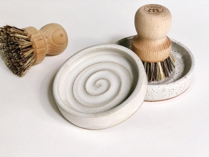 MADE to ORDER Scrub Brush Holder  Catch All Dish   Jewelry image 0