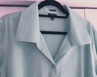 e8673b303c9dde Talbots wrinkle-resistant pale blue classic shirt, size 18W