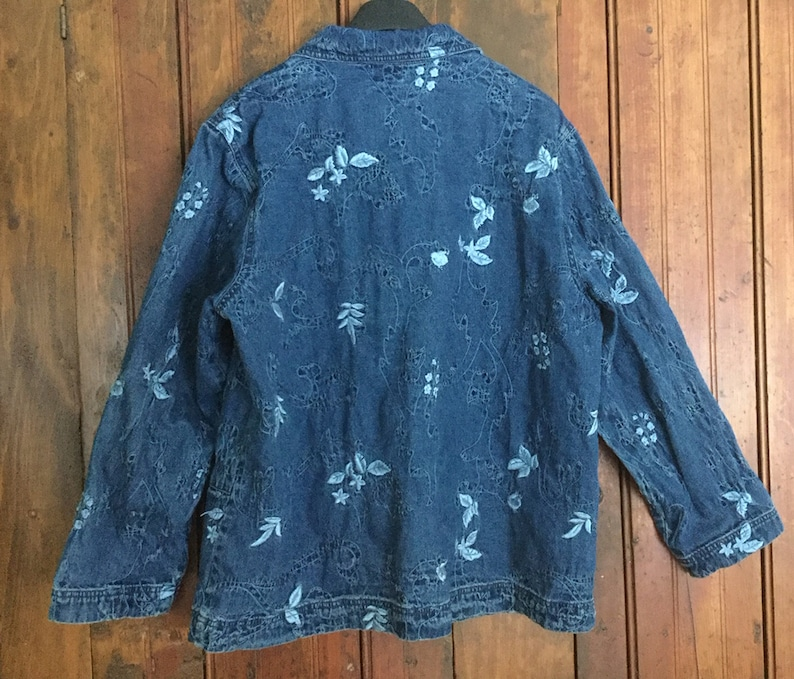 size 16-18 by Tabi Embroidered Denim jacket
