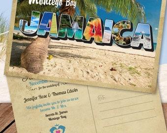Jamaica Save The Date Postcard - Destination Wedding